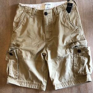 NWT! Abercrombie Boys Khaki Cargo Shorts